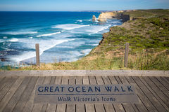 Wielki oceanu spaceru znak Obraz Royalty Free