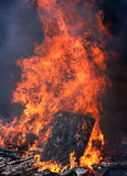 wielki ogień gorąco Obrazy Royalty Free