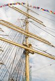 wielki olinowania rejsów statku Obrazy Royalty Free