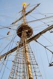 wielki olinowania rejsów statku Fotografia Stock