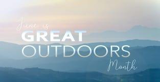 Wielki outdoors miesiąc Obrazy Royalty Free