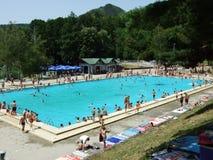 Wielki pływacki basen obrazy royalty free