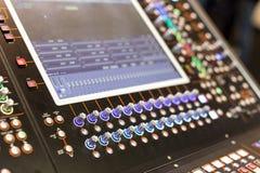 Wielki panel scena kontroler z ekranami Zdjęcie Stock