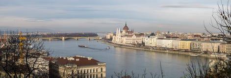 Wielki Panoramiczny przegląd Budapest obraz stock