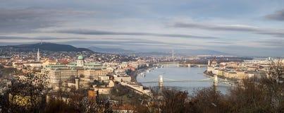 Wielki Panoramiczny przegląd Budapest obrazy stock