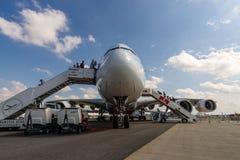 Wielki pasażerski samolot w światowym Aerobus A380-800 Obraz Stock