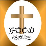 Wielki Piątek ilustracja dla chrześcijańskiej religijnej okazji z krzyżem Może używać dla tła, powitania, sztandary, ilustracji