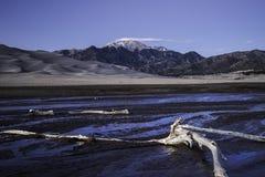Wielki piasek diun krajobraz Zdjęcie Stock