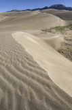 Wielki piasek diun park narodowy w Południowym Kolorado Zdjęcia Stock