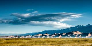 Wielki piasek diun park narodowy w wczesnym poranku Obrazy Stock