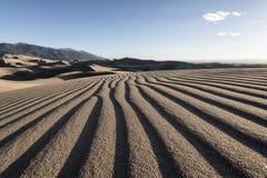 Wielki Piaska Diun Park Narodowy, Kolorado, USA Obrazy Stock