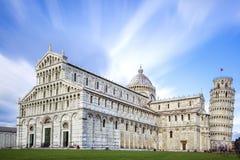 Wielki piazza Miracoli w Pisa Włochy Obrazy Royalty Free