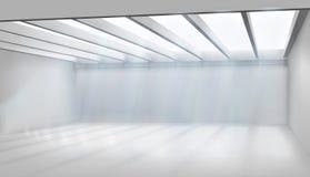 Wielki pokój z szklanym dachem również zwrócić corel ilustracji wektora ilustracja wektor