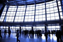 wielki port lotniczy okno Zdjęcie Stock