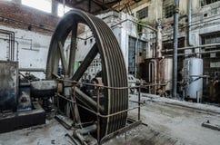 wielki prowadnikowy toczy wewnątrz fabrykę Fotografia Stock