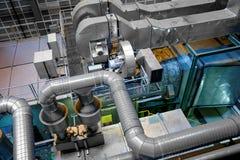 Wielki przemysłowy wnętrze z władza generatorem Zdjęcia Royalty Free
