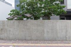 Wielki pusty billboard na ulicznej ścianie obraz royalty free