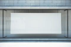 Wielki pusty sztandar w sklepowym okno Fotografia Stock