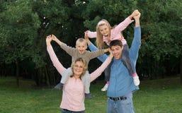 wielki rodzinny szczęśliwy Zdjęcia Stock