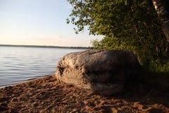 Wielki Rosyjski jezioro i krajobraz Zdjęcie Stock