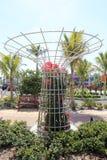 Wielki Round kwiatu Trellis Obrazy Stock
