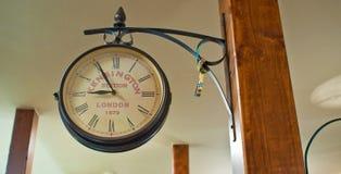 Wielki round zegar Zdjęcia Royalty Free