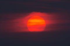 wielki słońce Zdjęcia Royalty Free