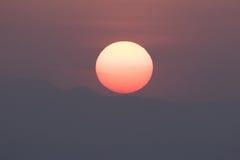 wielki słońce Fotografia Royalty Free
