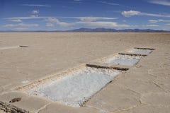 Wielki Saltworks, Argentyna fotografia royalty free