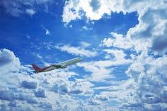wielki samolot pasażerski Obraz Royalty Free