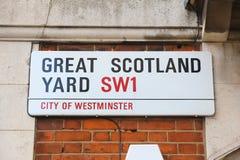Wielki Scotland Yard Zdjęcia Royalty Free