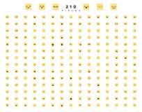 Wielki set 210 kolorów emocja na bielu ilustracji
