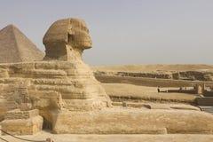 wielki sfinks egipski sfinks Siódmego cud świat Antyczni megality Zdjęcie Royalty Free