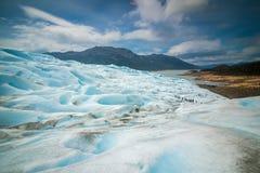 Wielki skłon błękitny lodowiec Shevelev Obrazy Stock