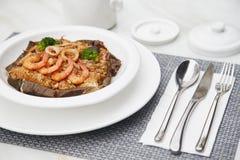 Wielki smak owoce morza Smażący Rice Fotografia Royalty Free
