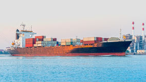 wielki statek pojemnika Fotografia Stock