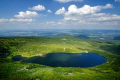 Wielki Staw in Giant Mountains. Krkonose - Polska royalty free stock photos