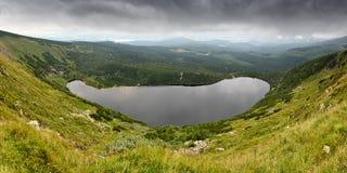 Wielki Staw (Großer Teich). Panorama of Wielki Staw (Big Pond) in Giant Mountains (Karkonosze / Krkonoše / Riesengebirge), Poland Royalty Free Stock Image