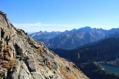 Wielki staw polski tarn in Dolina Piecu stawow polskich valley, High Tatras Royalty Free Stock Photos