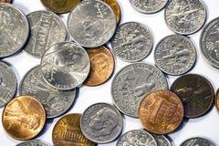 Wielki stos amerykańskie monety waluta obrazy royalty free