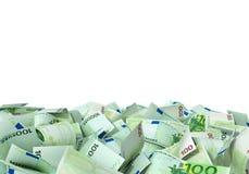 Wielki stos euro notatki Zdjęcia Royalty Free