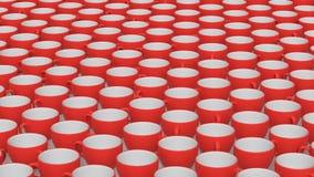Wielki szyk Czerwone i Białe Ceramiczne filiżanki royalty ilustracja