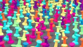 Wielki szyk Kolorowi Thumbtacks ilustracji