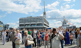 Wielki tłum ludzie Fotografia Stock