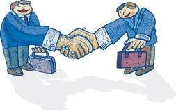 wielki uścisk dłoni royalty ilustracja