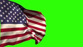 Wielki usa flaga państowowa dmuchanie