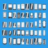 Wielki ustawiający różni abstrakcjonistyczni telefony komórkowi rozdziela 2/2 ilustracja wektor