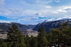 Wielki widok nad Flatdal Fotografia Royalty Free