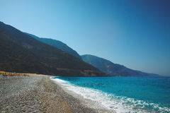 Wielki widok Oludeniz, Turcja, morze śródziemnomorskie Obraz Stock