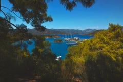 Wielki widok Oludeniz, Turcja, morze śródziemnomorskie Obraz Royalty Free